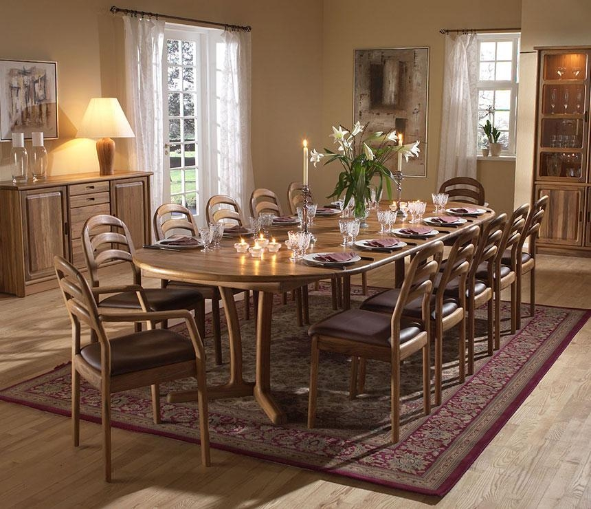 Traditional Round Dining Room Table – Wharfside Danish Furniture With Regard To Traditional Dining Tables (Image 20 of 20)