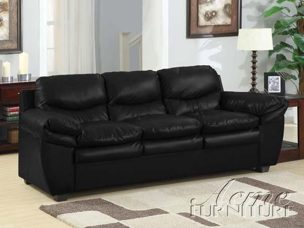 Featured Image of Black Leather Convertible Sofas