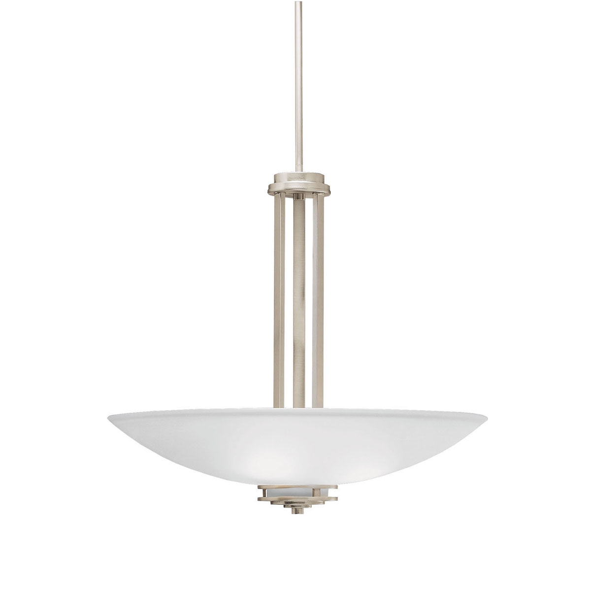Transitional 3 Light Inverted Pendant In Olde Bronze Hendrik Intended For Inverted Pendant Chandeliers (Image 24 of 25)