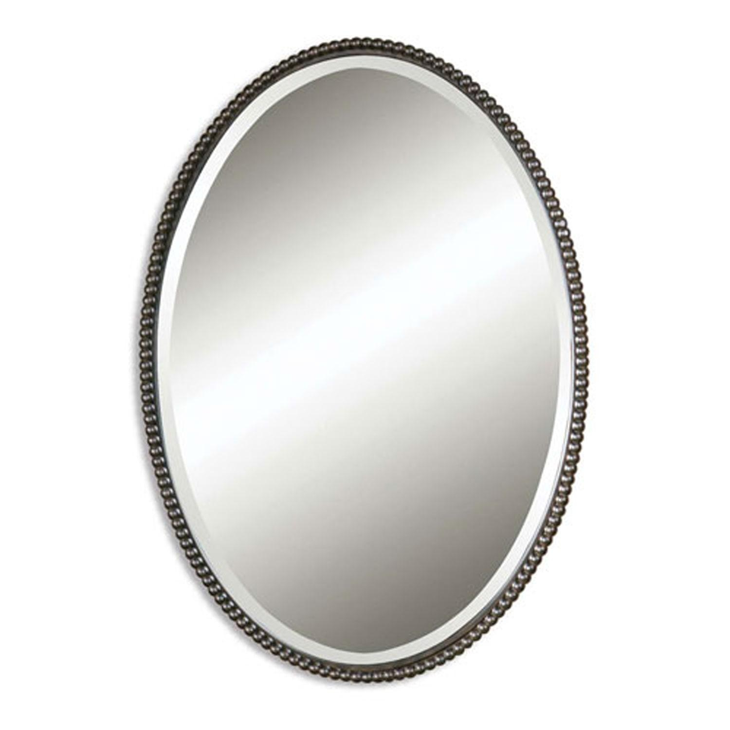 Transitional Mirrors | Bellacor Inside Bevelled Oval Mirror (Image 18 of 20)