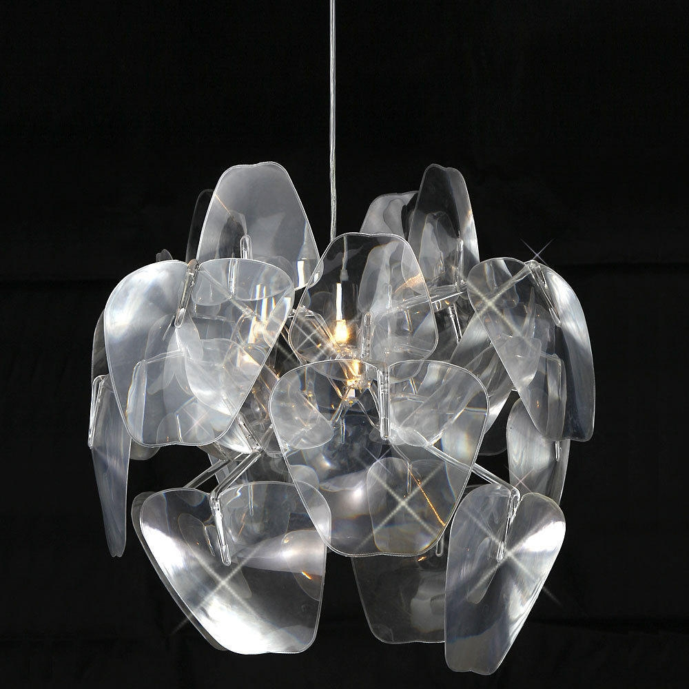 Transparent Acrylic 1 Light Round Pendant At Lightingbox Canada In Acrylic Chandeliers (View 16 of 25)
