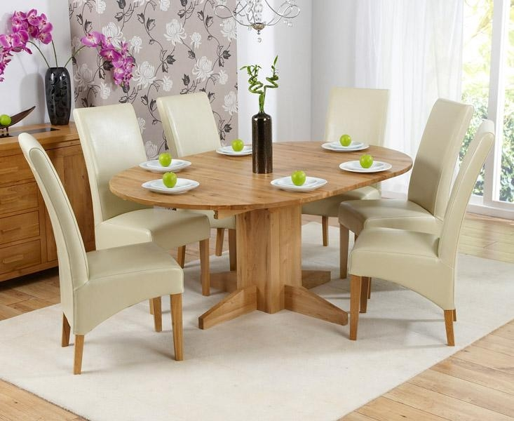 Trend Solid Oak Furniture Round Extending Dining Table And 6 Roma With Roma Dining Tables And Chairs Sets (Image 16 of 20)