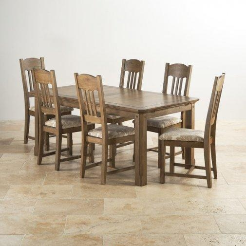 Trendy Dining Tables 6 Chairs Encore Rectangular Set Chair | Uotsh In Dining Table Sets With 6 Chairs (Image 19 of 20)