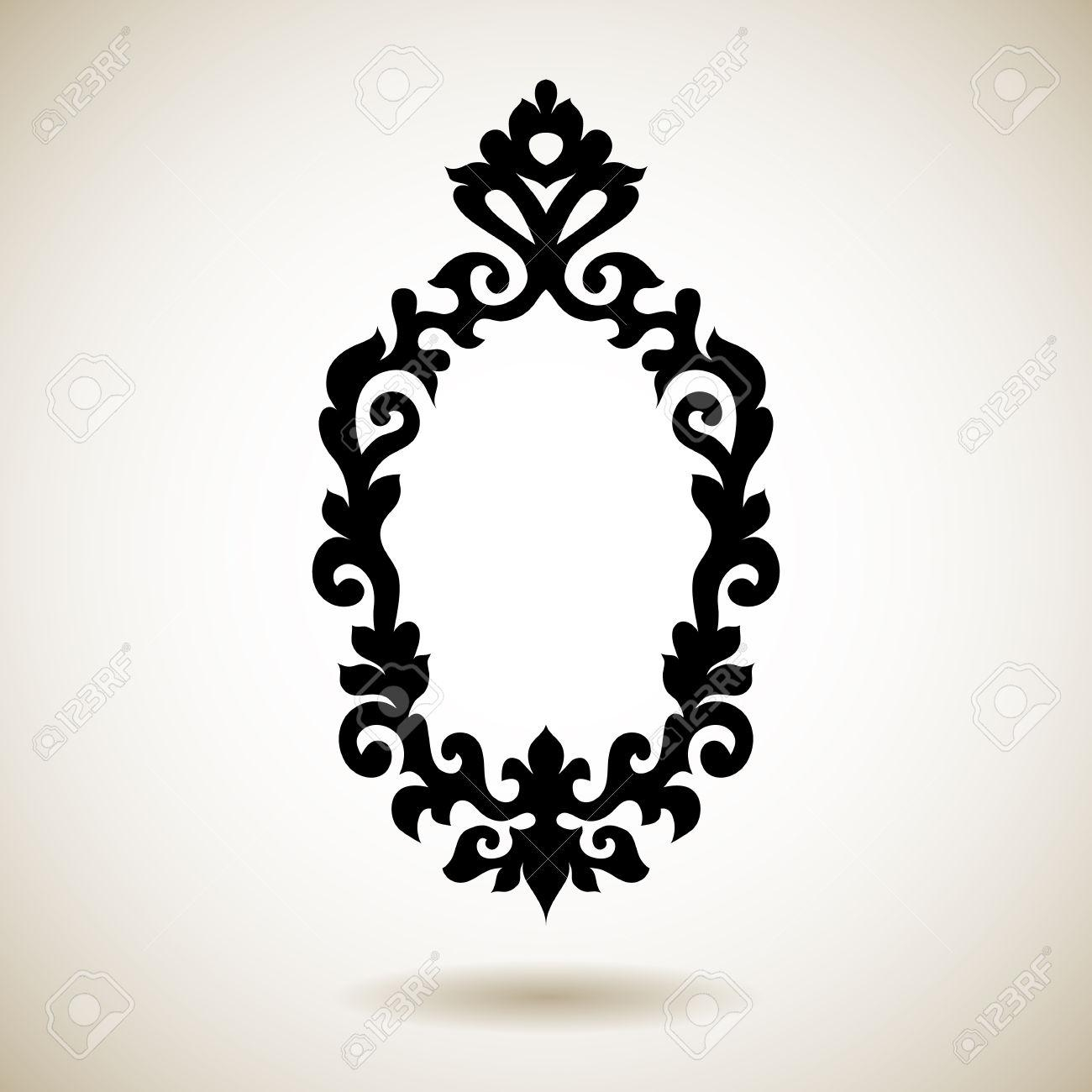 Tribal Reflected Black Tattooed Frame (Image 19 of 20)