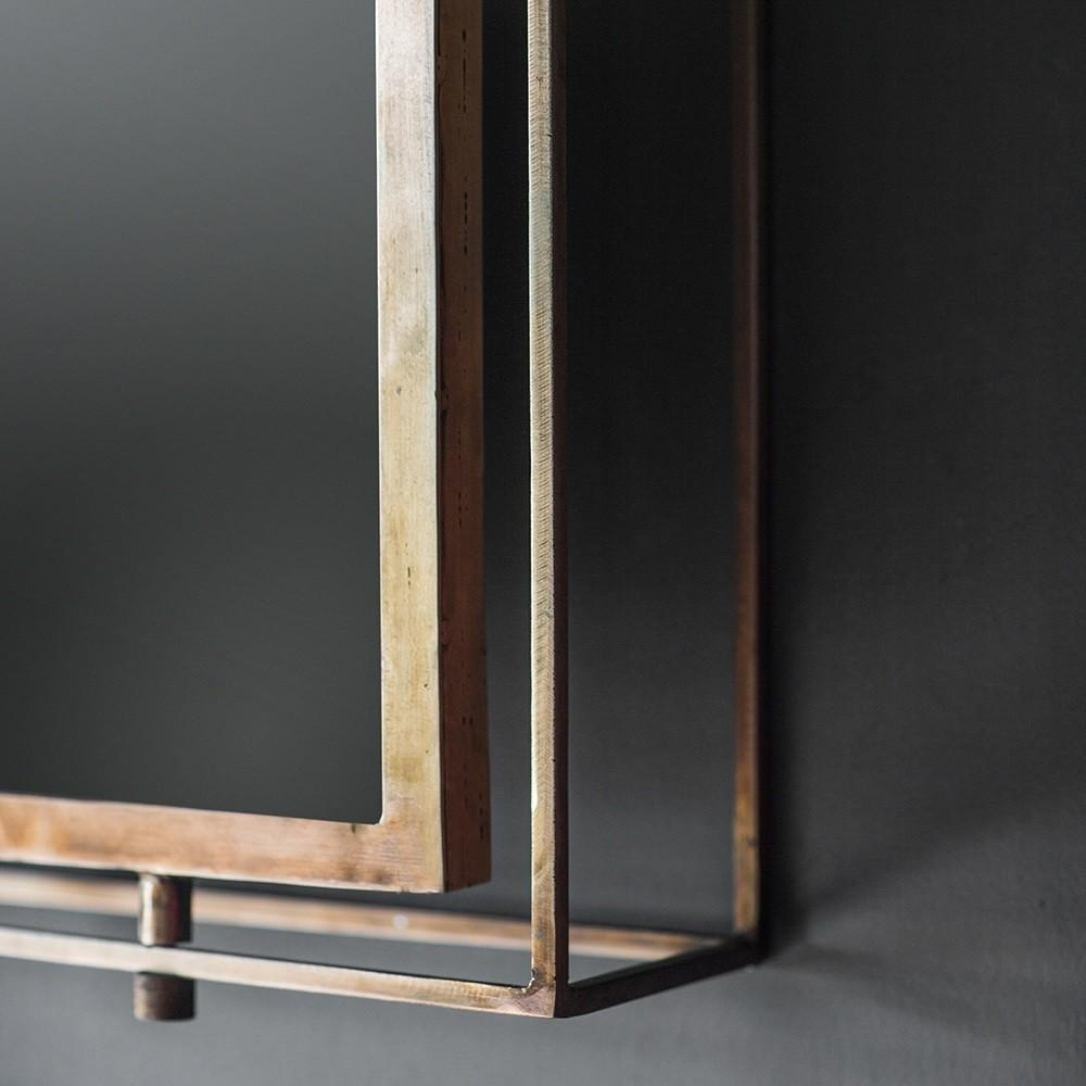 Tribeca Triple Wall Mirror – Antique Copper With Regard To Triple Wall Mirror (Image 18 of 20)