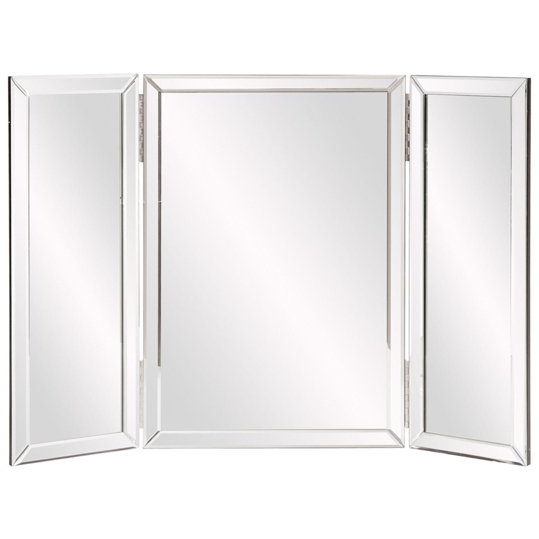 Tripoli Trifold Glass Tabletop Vanity Mirror Howard Elliott Intended For Standing Table Mirror (Image 19 of 20)