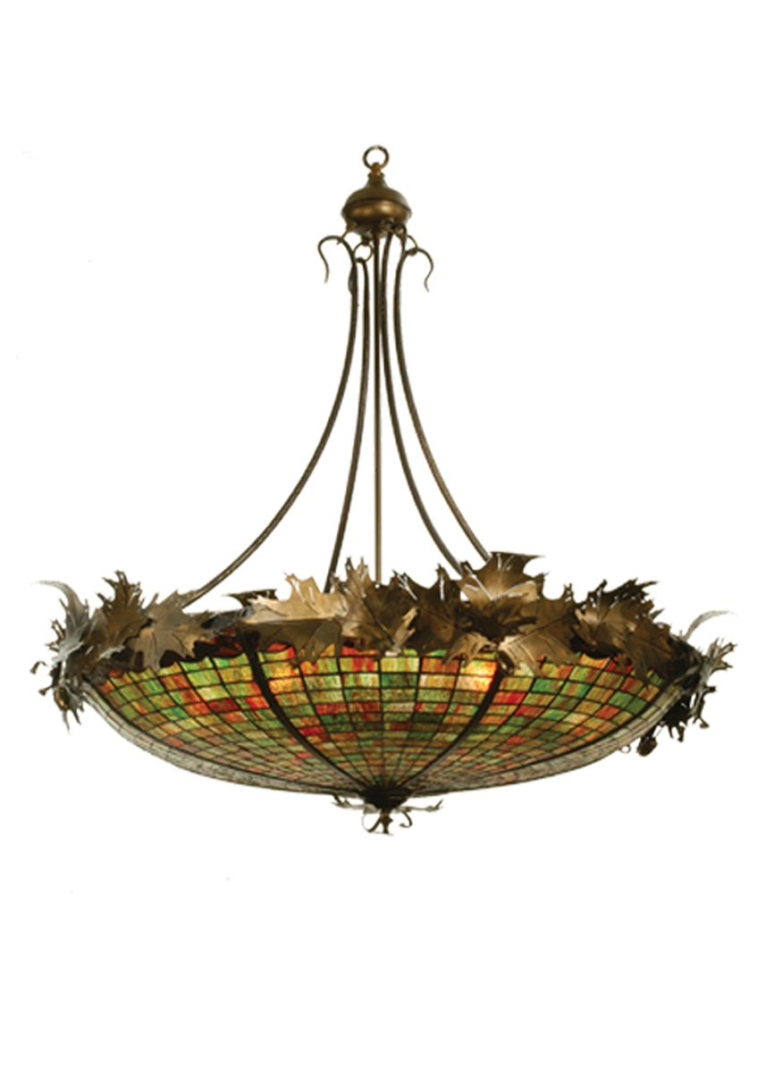 Tropical Leaves Flowers Pendant Lights With Regard To Inverted Pendant Chandeliers (Image 25 of 25)