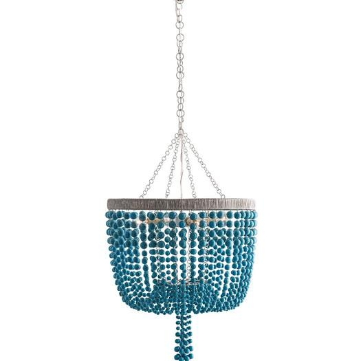 Turquoise Beaded Rivulets Chandelier For Turquoise Blue Beaded Chandeliers (Image 23 of 25)