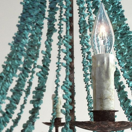 Turquoise Beads Six Light Chandelier 3d Model Max Fbx For Turquoise Beads SixLight Chandeliers (Image 20 of 25)