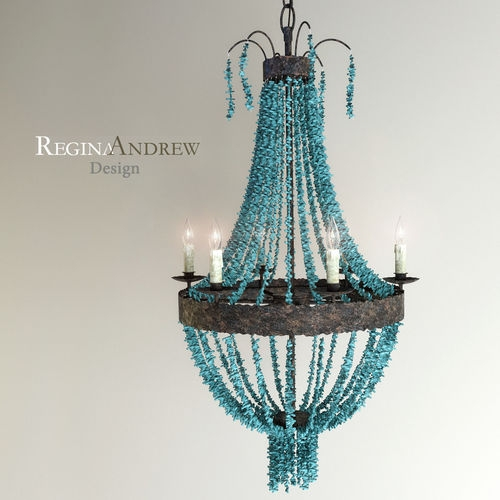 Featured Image of Turquoise Beads Six Light Chandeliers