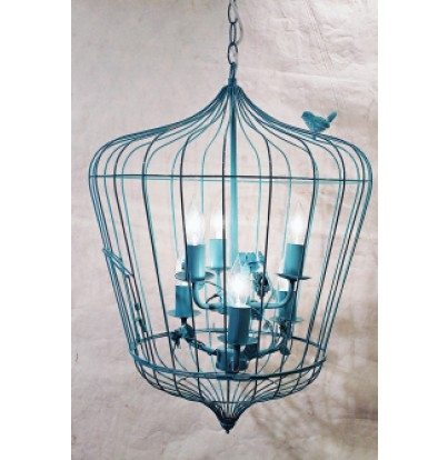 Turquoise Bird Cage Chandelier Bird Cages Pinterest Within Turquoise Birdcage Chandeliers (View 2 of 25)