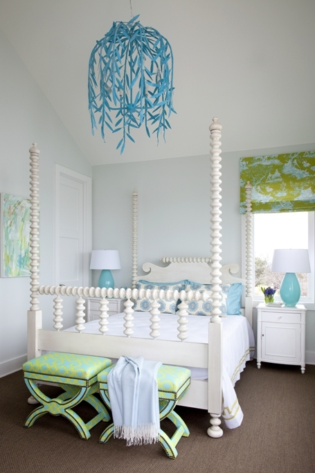 Turquoise Blue And Green Girls Bedroom Design Ideas Within Turquoise Blue Chandeliers (Image 16 of 25)