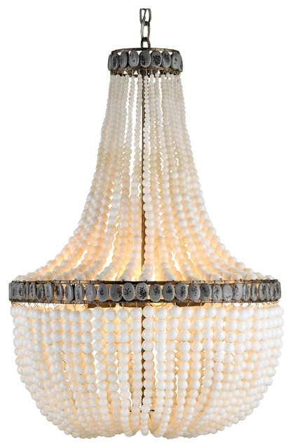 Turquoise Blue Beaded Coastal Beach 3 Light Chandelier Beach Inside Turquoise Blue Beaded Chandeliers (Image 24 of 25)