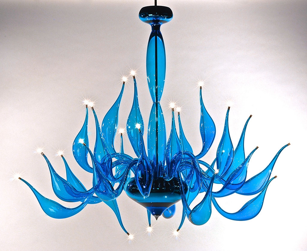 Turquoise Chandelier Lu 14 For A Modern Interior Lighting Design With Regard To Turquoise Blue Glass Chandeliers (Image 23 of 25)