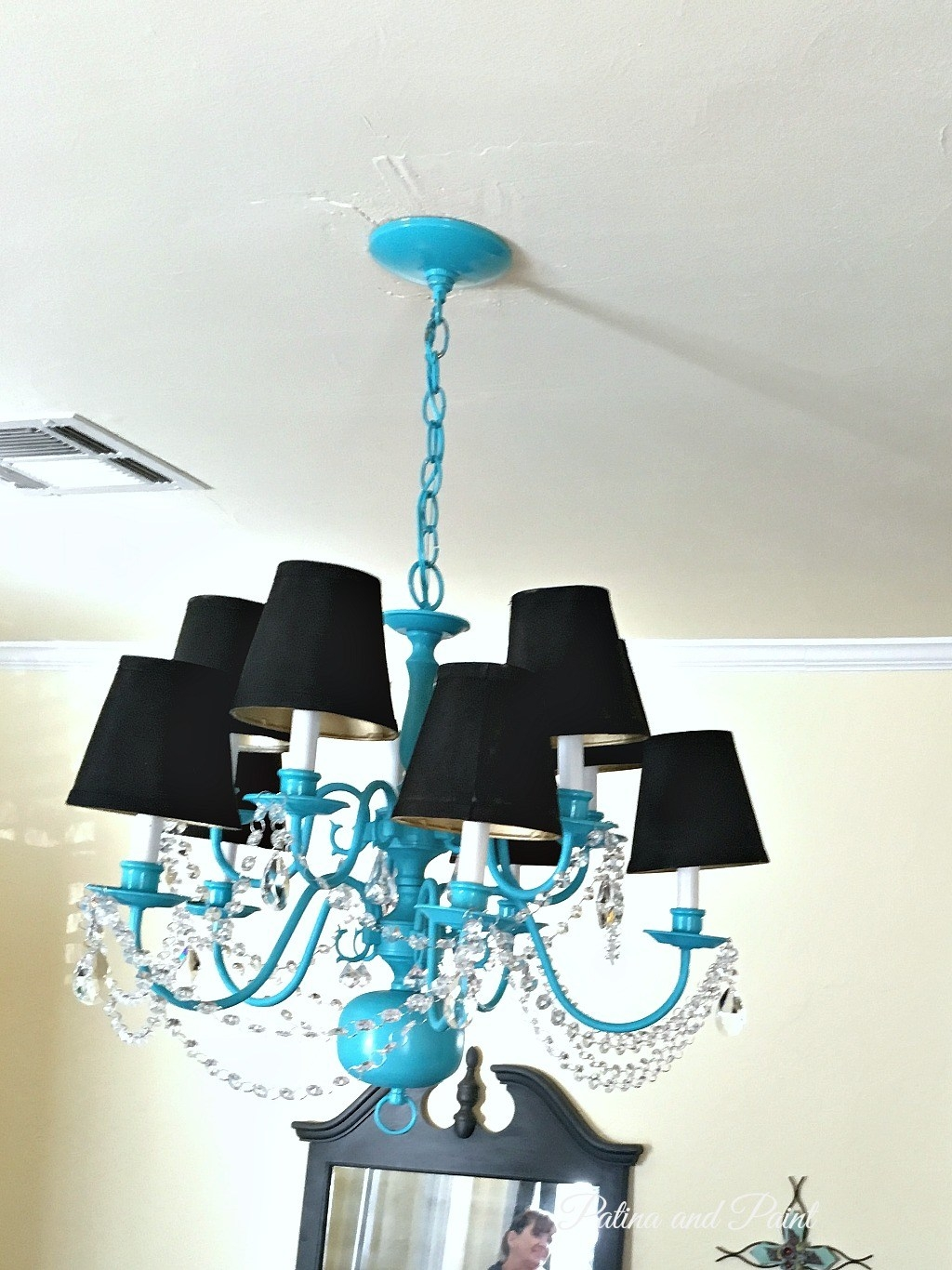 Turquoise Chandelier Patina And Paint Inside Turquoise Chandelier Crystals (Image 22 of 25)