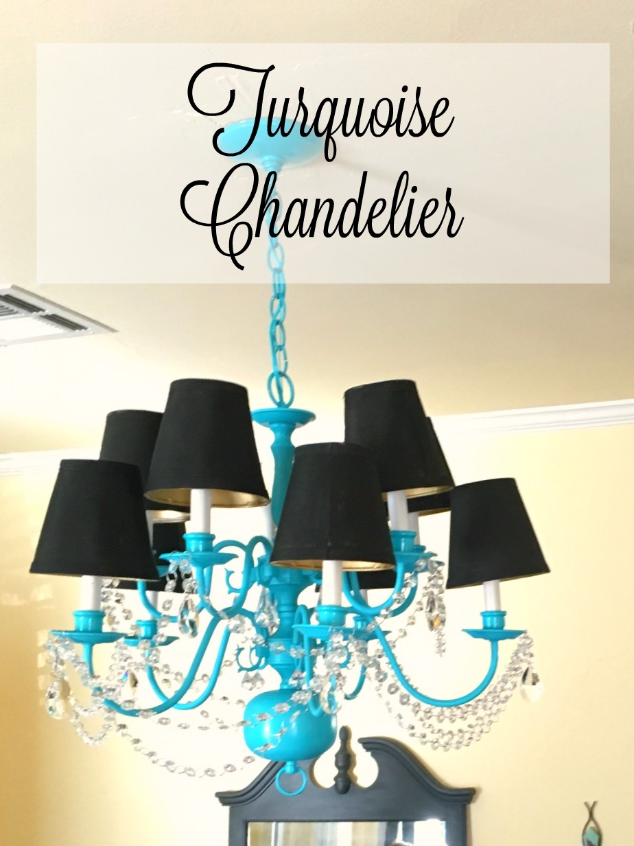 Turquoise Chandelier Patina And Paint Inside Turquoise Chandelier Lamp Shades (Image 24 of 25)