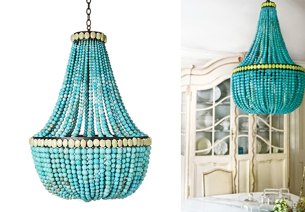 Turquoise Chandeliers Decoholic For Turquoise Blue Chandeliers (Image 24 of 25)