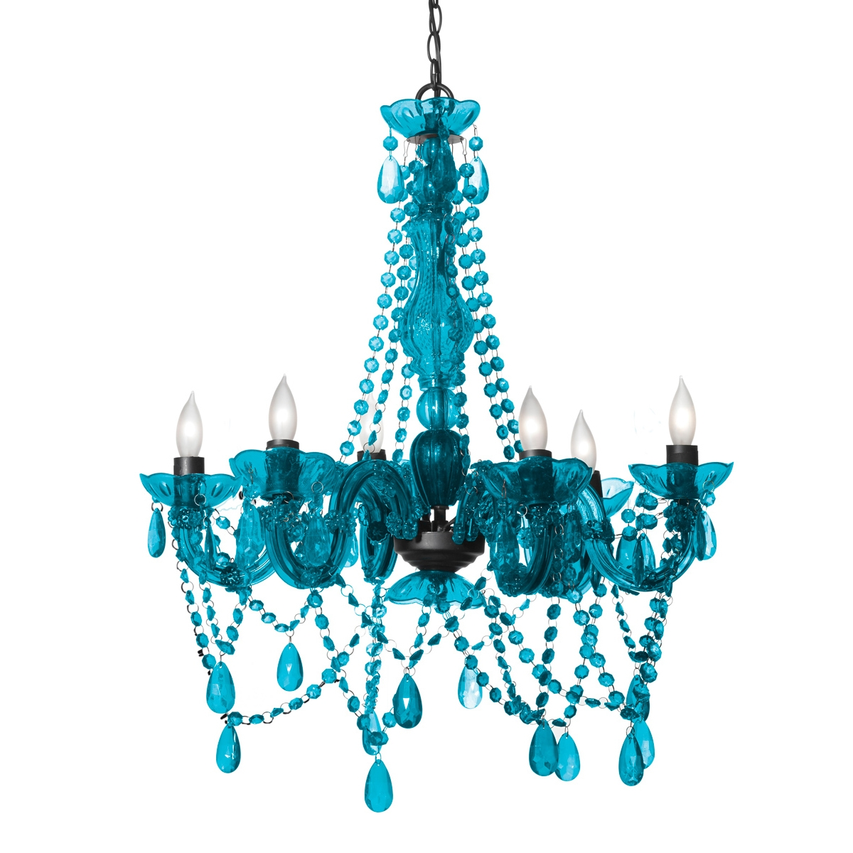 Turquoise Color Chandelier Intended For Turquoise Chandelier Crystals (Image 24 of 25)