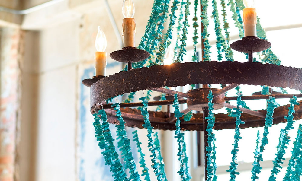 Turquoise Pieces For Home Horse Cowgirl Magazine With Turquoise Beads SixLight Chandeliers (View 21 of 25)