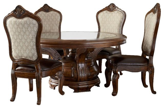 Tuscano Melange Round Dining Table – Victorian – Dining Sets – Within Dining Table Sets (View 14 of 20)