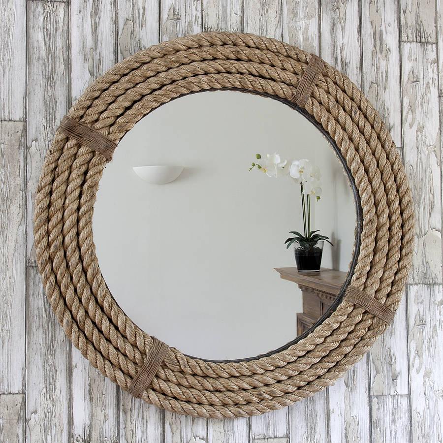 Twisted Rope Round Mirrordecorative Mirrors Online For Decorative Round Mirrors (Image 18 of 20)