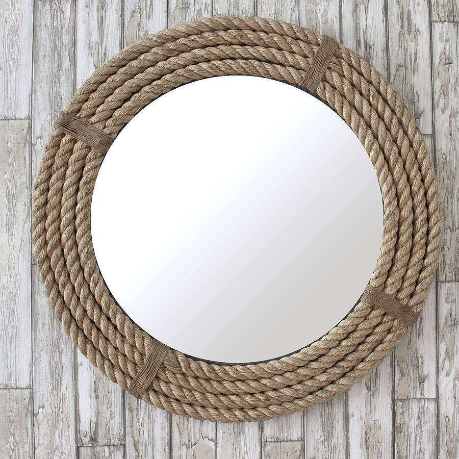 Twisted Rope Round Mirrordecorative Mirrors Online With Round Mirrors (Image 19 of 20)