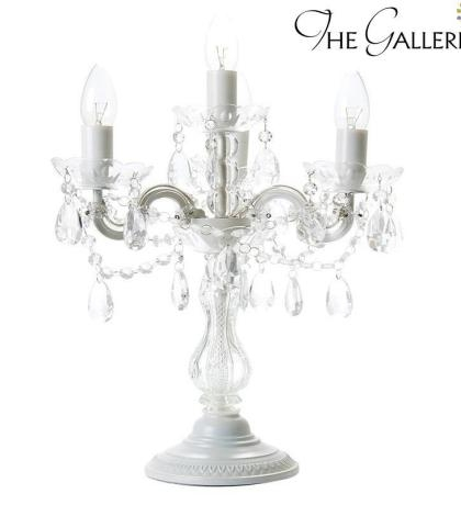 Two Tiere Chandelier Style Faux Crystal Bar Table Lamp 25 Tall In Faux Crystal Chandelier Table Lamps (Image 20 of 25)