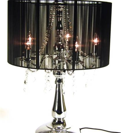 Two Tiere Chandelier Style Faux Crystal Bar Table Lamp 25 Tall With Regard To Faux Crystal Chandelier Table Lamps (Image 25 of 25)