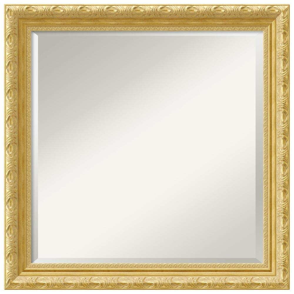 U555U | Images: Gold Frame Border Square With Square Gold Mirror (Image 17 of 20)