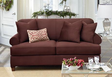 Ultimate Heavyweight Stretch Suede Individual 2 Piece T Cushion In 3 Piece Sofa Covers (Image 18 of 20)