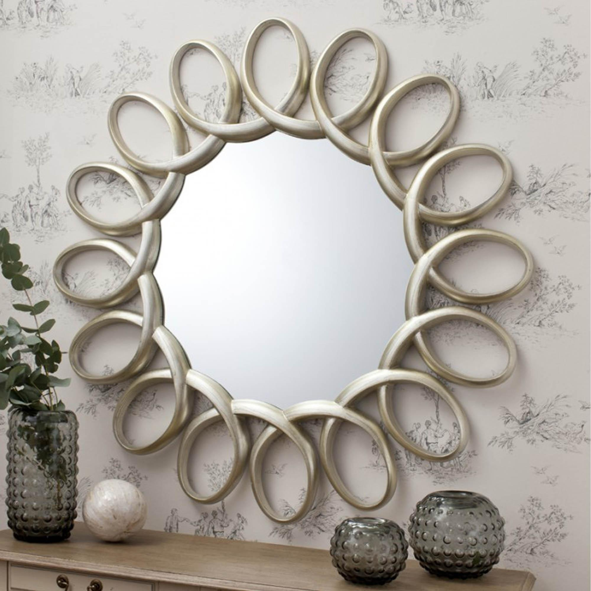 Uncategorized : Big White Wall Mirror Large Elegant Wall Mirrors Intended For Round White Mirror (Image 18 of 20)