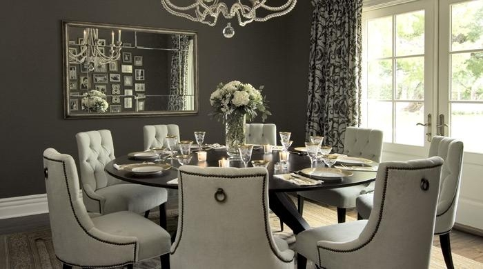 Uncategorized: Elegant Round Dining Table For 8 ~ Home Design Pertaining To Large Circular Dining Tables (Image 19 of 20)