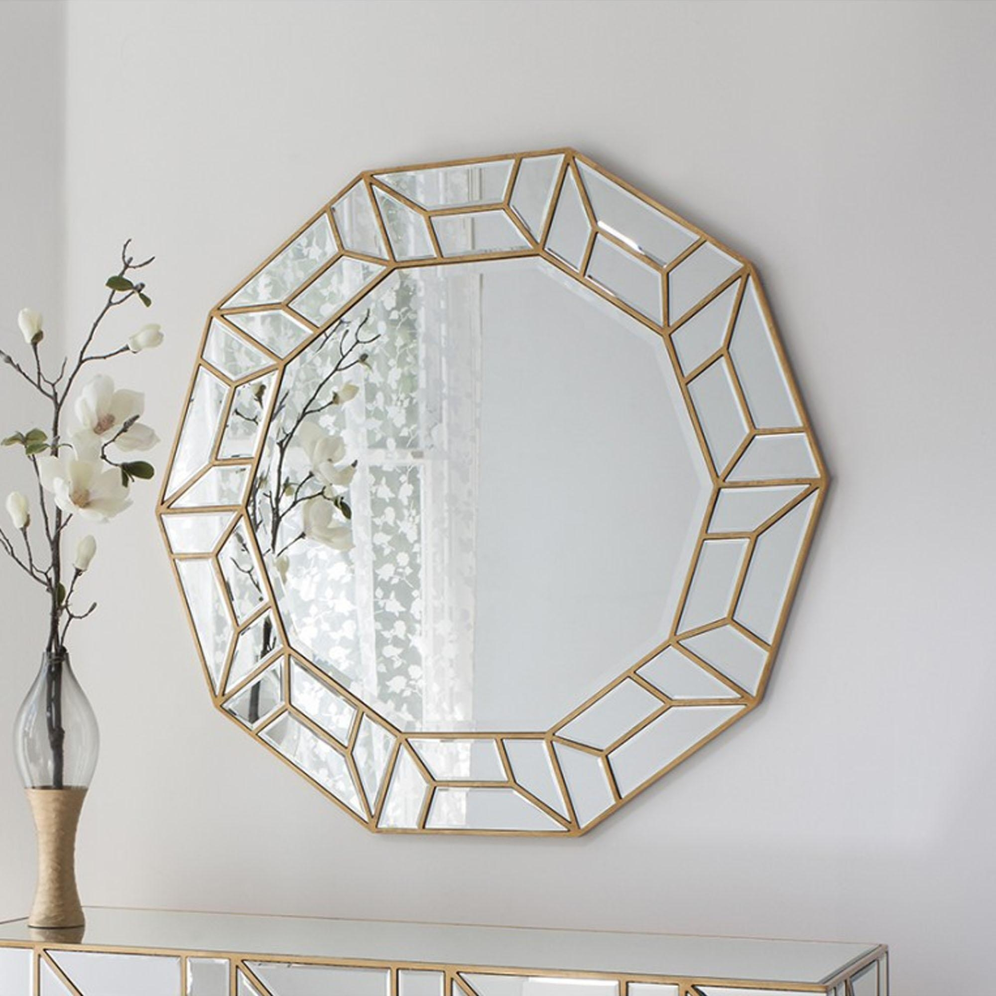Uncategorized : Grey Wall Mirror Large Round Decorative Mirror For Round Bevelled Mirror (Image 20 of 20)