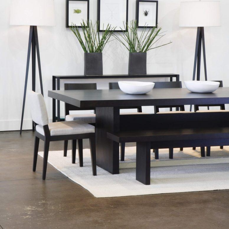Black Bench For Dining Table: Cream Lacquer Dining Tables
