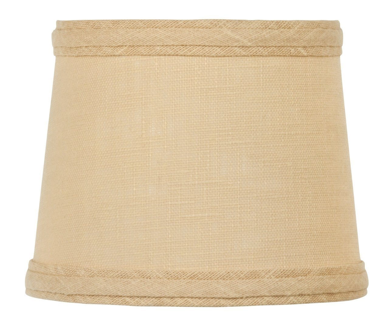 Upgradelights Sand Linen 6 Inch Drum Style Clip On Chandelier Mini Inside Clip On Drum Chandelier Shades (Image 25 of 25)