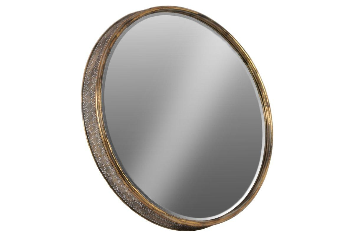 Urban Trends Metal Round Wall Mirror & Reviews | Wayfair Regarding Bronze Wall Mirror (Image 19 of 20)