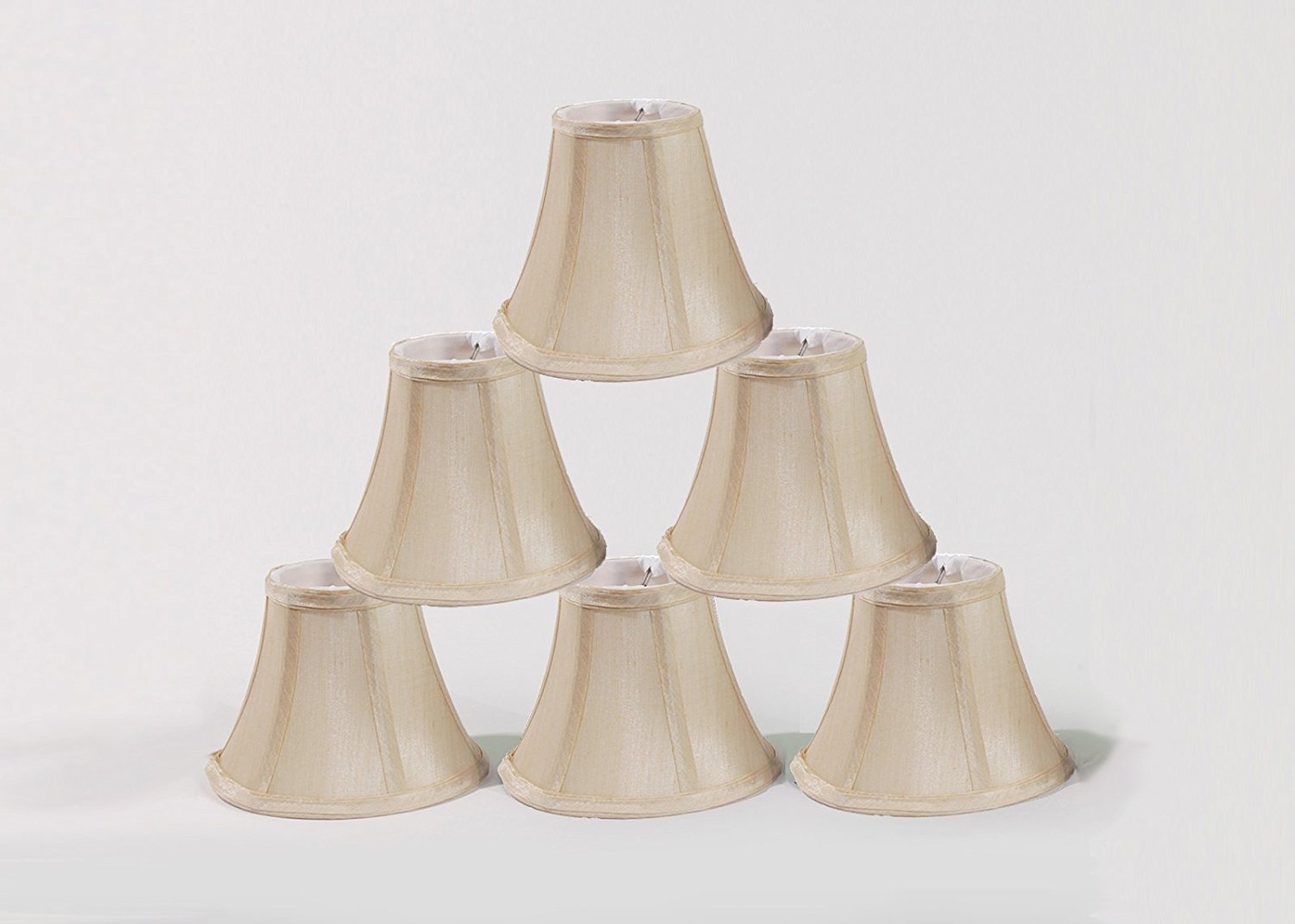 Urbanest Chandelier Lamp Shades Set Of 6 Soft Bell 3x 6x 5 Throughout Clip On Chandelier Lamp Shades (Image 24 of 25)