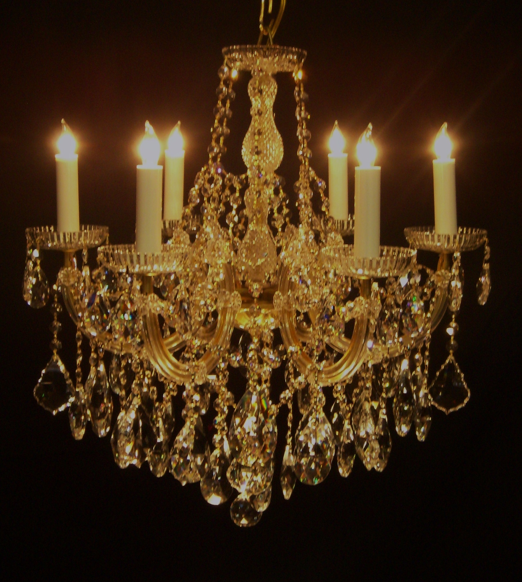 Us Brand French Empire 12 Light Gold Finish Clear Crystal Pertaining To Crystal Gold Chandeliers (Photo 1 of 25)