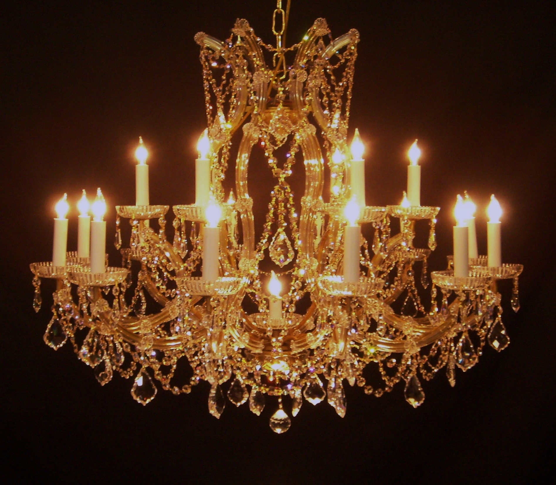 Us Brand French Empire 12 Light Gold Finish Clear Crystal Within Crystal Gold Chandeliers (Image 23 of 25)
