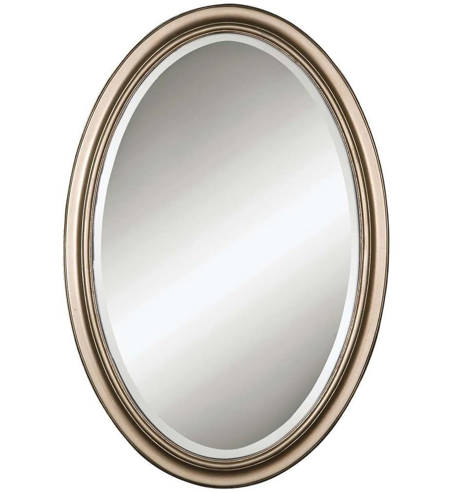 Uttermost – 14196 – Montrose Oval Silver Mirror | Lamps For Oval Silver Mirror (Photo 16 of 20)