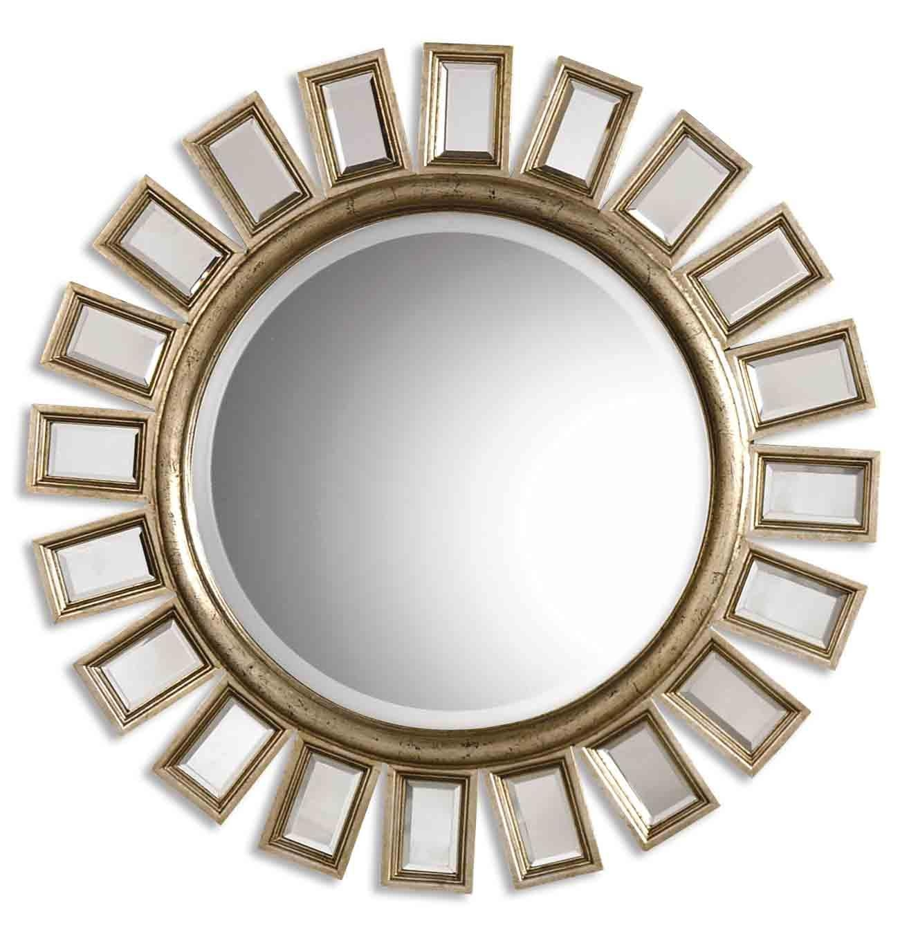 Uttermost Cyrus Round Silver Mirror 14076 B With Large Round Silver Mirror (Image 20 of 20)