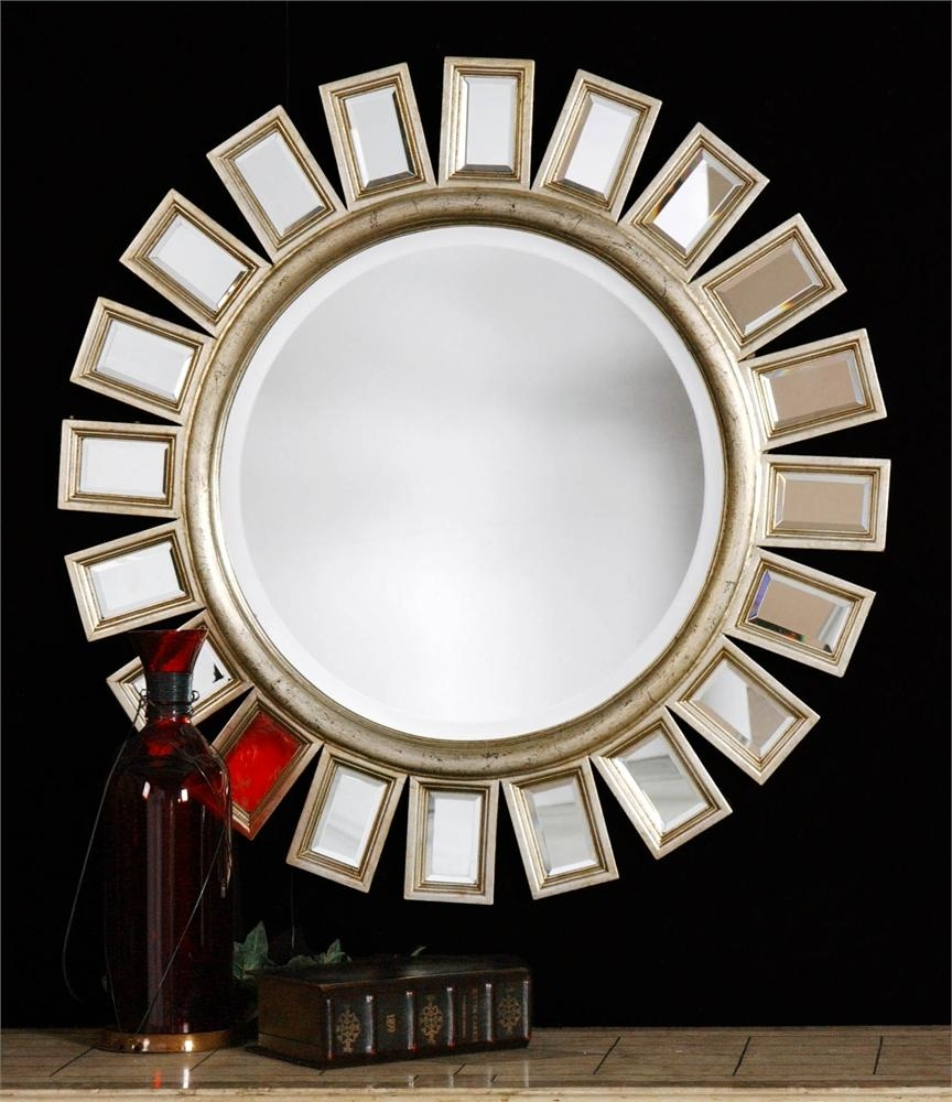 Uttermost Cyrus Round Silver Mirror | Alive Design Throughout Distressed Silver Mirror (Photo 17 of 20)