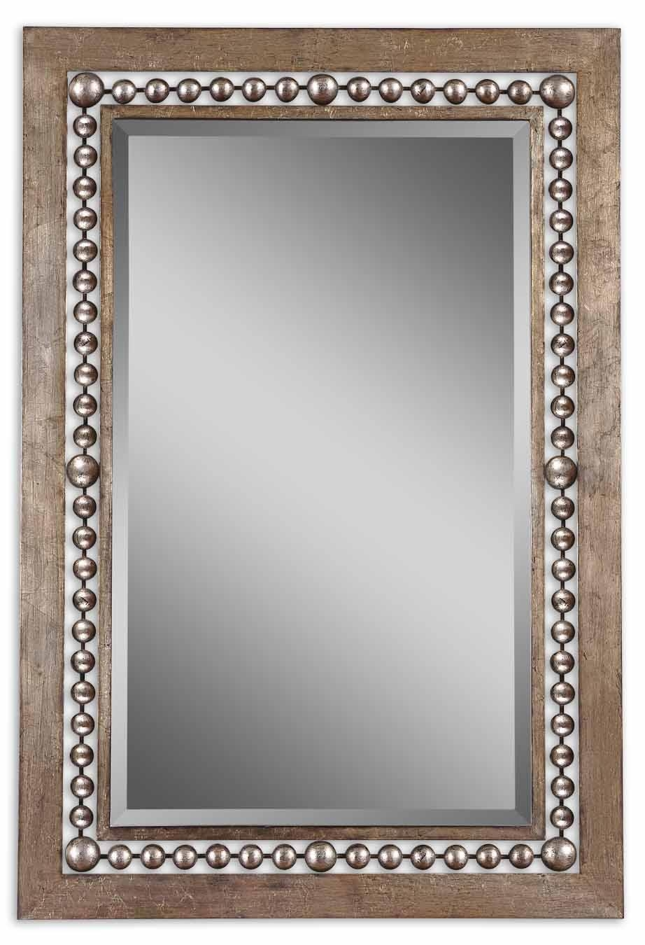 Uttermost Fidda Antique Silver Mirror 13724 Pertaining To Vintage Silver Mirror (Image 19 of 20)