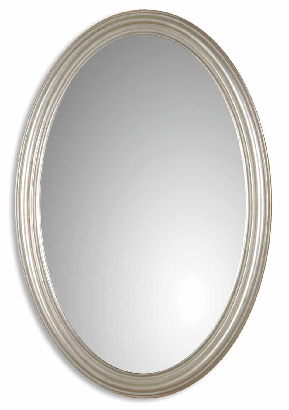 Uttermost Franklin Oval Silver Mirror 08601 P Intended For Oval Silver Mirror (Photo 1 of 20)