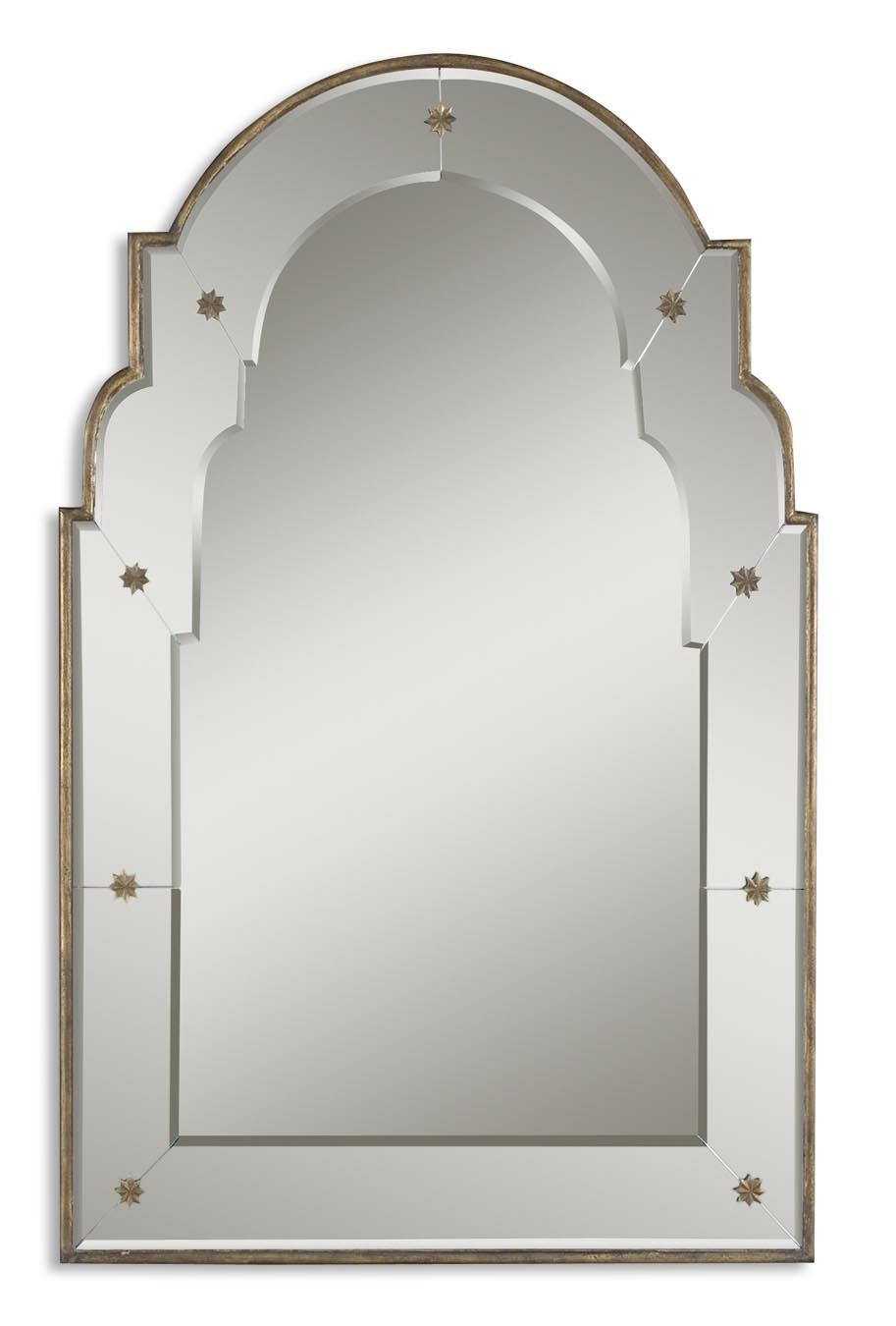 Uttermost Gella Small Arched Mirror 12595 B Within Gold Arch Mirror (Image 20 of 20)