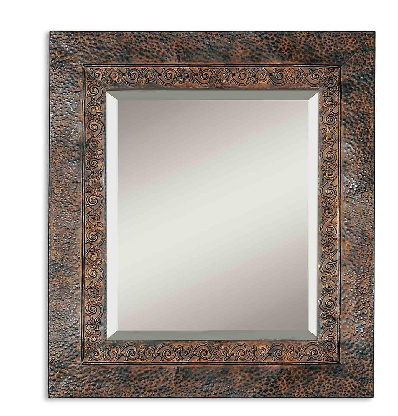 Uttermost Jackson Rustic Metal Mirror 11182 B Regarding Iron Framed Mirror (Photo 11 of 20)