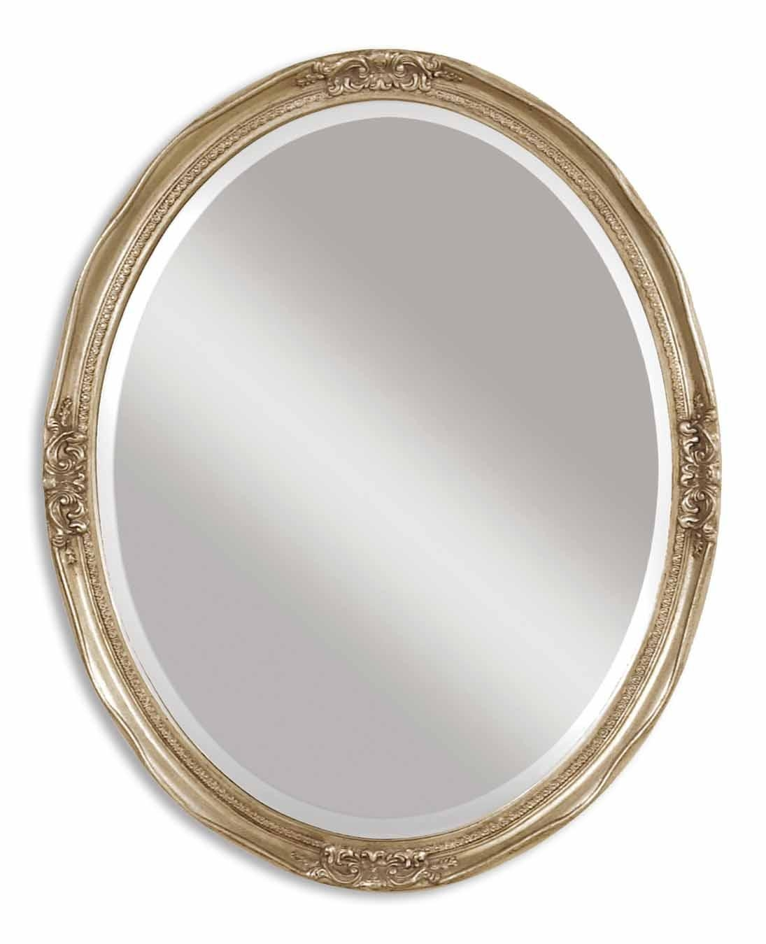 Uttermost Newport Oval Silver Mirror 08565 B Throughout Oval Silver Mirror (Photo 4 of 20)