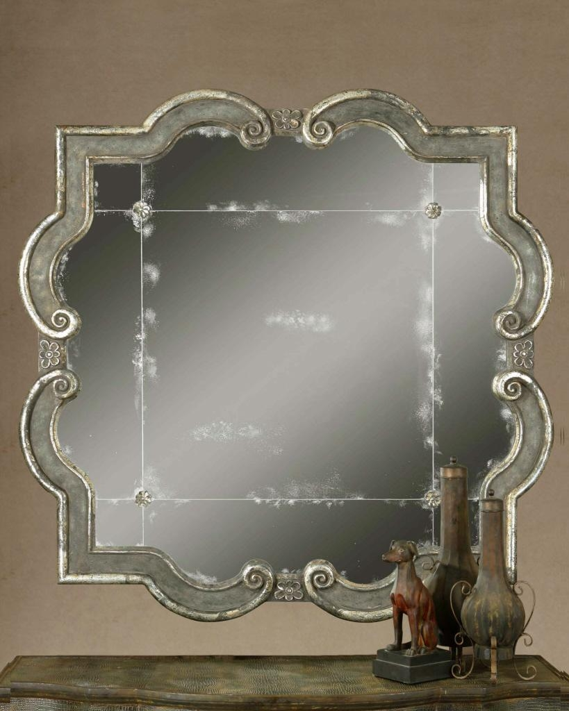 Uttermost Prisca Distressed Silver Mirror 12557 P With Regard To Distressed Silver Mirror (View 3 of 20)