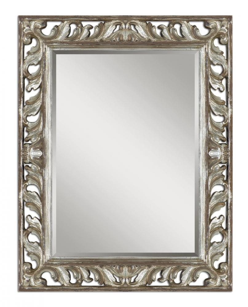 Uttermost Vitaliano Distressed Silver Mirror : 09511 | Lighting Depot Pertaining To Distressed Silver Mirror (View 13 of 20)