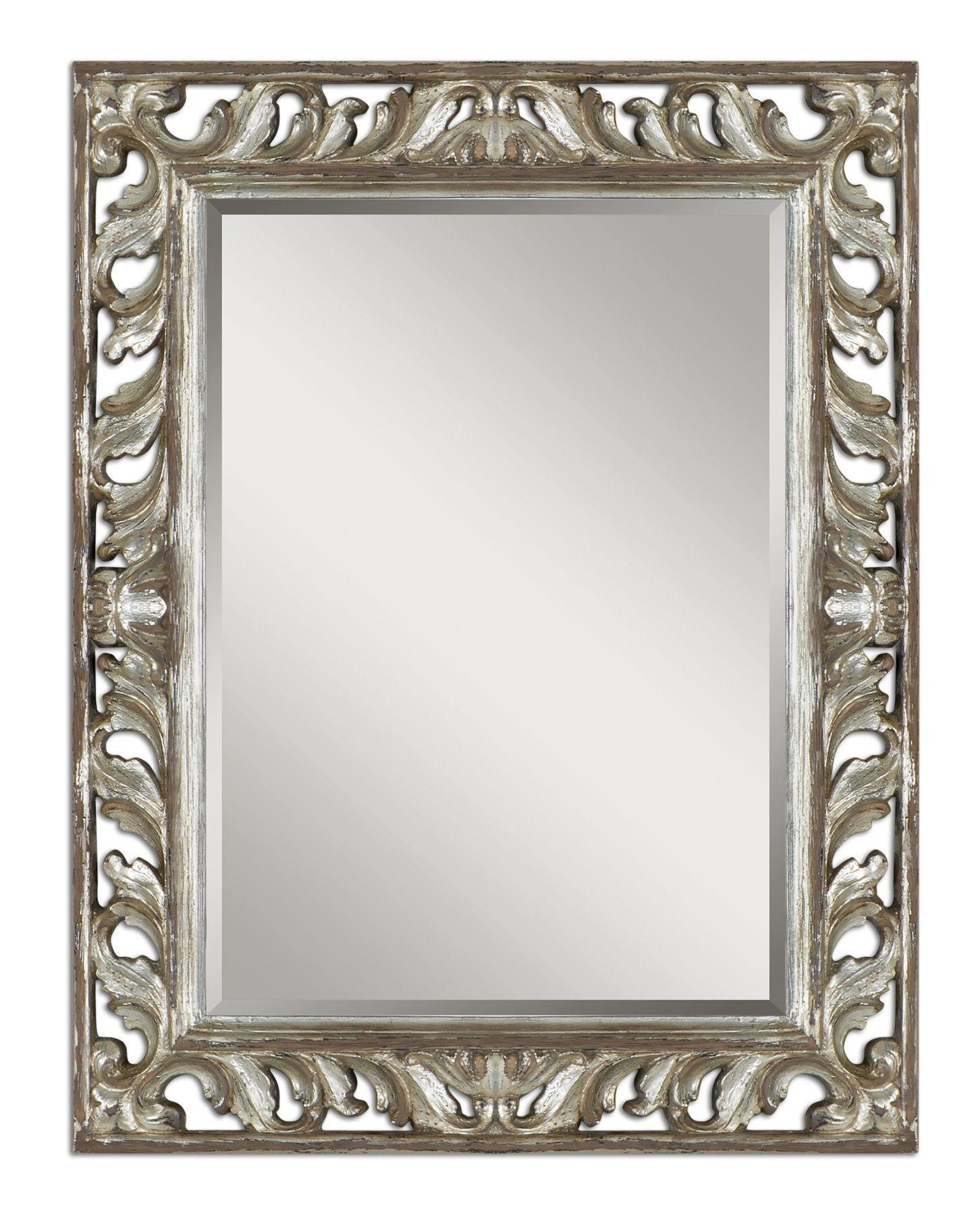 Uttermost Vitaliano Distressed Silver Mirror 09511 Throughout Distressed Silver Mirror (View 4 of 20)